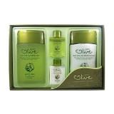 Набор с экстрактом оливы для ухода за мужской кожей 3W Clinic Olive For Man Fresh 2 Items Set 150 мл + 150 мл + 2 миниатюры