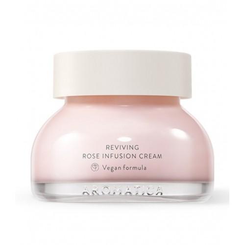Омолаживающий увлажняющий крем с экстрактом дамасской розы AROMATICA Reviving Rose Infusion Cream 50 мл
