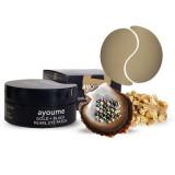 Патчи для глаз с золотом и черным жемчугом Ayoume Gold + Black Pearl Eye Patch 60 шт