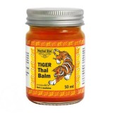 Красный разогревающий тигровый бальзам Herbal Star Tiger Thai Balm 50 мл
