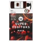 Осветляющая 2-х этапная детокс-система Chosungah By Vibes Wonder Bath Super Vegitoks Mask Red 3 мл+25 мл