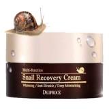 Многофункциональный восстанавливающий крем с муцином улитки Deoproce Multi-Function Snail Recovery Cream 100 гр