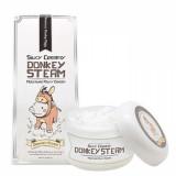 Паровой увлажняющий крем на основе ослиного молока Elizavecca Silky Creamy Donkey Steam Moisture Milky Cream 100 мл