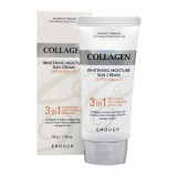 Осветляющий солнцезащитный крем с коллагеном ENOUGH Collagen Whitening Moisture Sun Cream 3 in 1 SPF50 PA+++ 50 мл