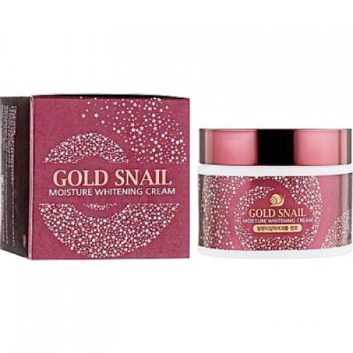 Осветляющий увлажняющий крем с муцином улитки Enough Gold Snail Moisture Whitening Cream 50 мл