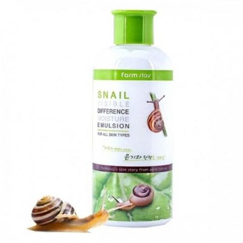 Увлажняющая эмульсия с фильтратом улитки FARMSTAY Snail Visible Difference Moisture Emulsion 350 мл