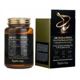 Антивозрастная ампульная сыворотка с 24K золотом и пептидами FARMSTAY 24K Gold & Peptide Solution Prime Ampoule 250 мл