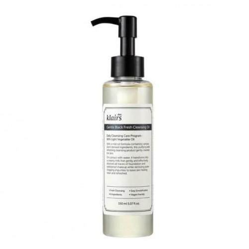 Увлажняющее гидрофильное масло Klairs Gentle Black Fresh Cleansing Oil 150 мл