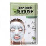 Кислородная маска-салфетка для лица с чайным деревом Labute Clear Bubble Tea Tree Mask