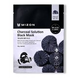 Очищающая тканевая маска для лица с древесным углём Mizon Charcoal Solution Black Mask 30 мл