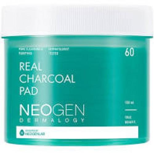Очищающие пэды с древесным углём Neogen Dermalogy Real Charcoal Pad 60 шт