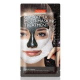 Маска пленка для лица «черная и белая» Purederm Galaxy 2x Multi-Masking Treatment Black & White