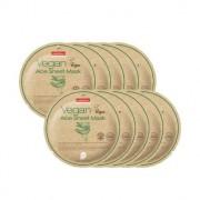 Маска для лица тканевая c алое PUREDERM Vegan Aloe Sheet Mask 23 гр