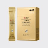 Омолаживающая ночная маска на основе золота и коллагена SNP Gold Collagen Sleeping Pack 4 мл