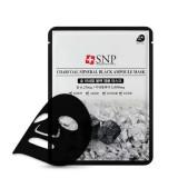 Тканевая маска для лица с углем SNP Charcoal Mineral Black Ampoule Mask 25 мл