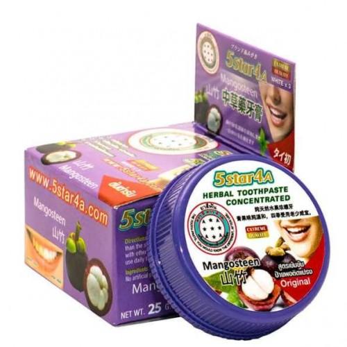 Зубная паста с мангостином 5Star4A Mangosteen Herbal Toothpaste Concetrated 25 гр