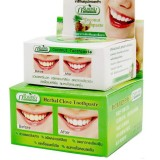 Тайская зубная паста травяная Herbal Clove Toothpaste Green Herb 2 шт. (шайба)