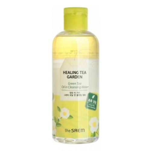Средство для снятия макияжа с маслом зеленого чая The Saem Healing Tea Garden Green Tea Oil In Cleansing Water 300 мл