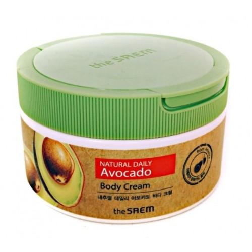 Питательный крем для тела с экстрактом авокадо The Saem Natural Daily Avocado Body Cream 300 мл
