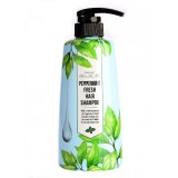 Шампунь для волос с мятой перечной WELCOS AROUND ME Peppermint Hair Shampoo 500 мл