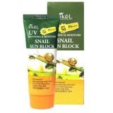 Солнцезащитный крем с улиточным муцином EKEL Soothing & Moisture Snail Sun Block SPF50 PA+++ 70 мл
