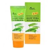 Солнцезащитный крем для лица и тела с экстрактом Алоэ EKEL Aloe Vera Sun Block SPF 50/PA+++ 70 мл