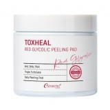 Пилинг-подушечки с гликолевой кислотой ESTHETIC HOUSE Toxheal Red Glycolic Peeling Pad 60 шт