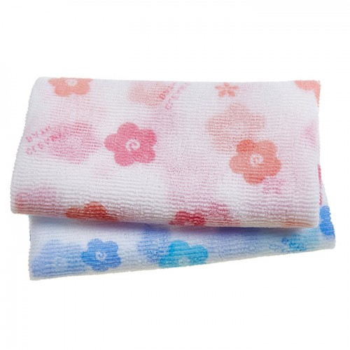 Мочалка для душа средне-жесткая (168) SUNG BO CLEAMY Clean & Beauty White Pattern Shower Towel
