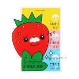 Набор от черных точек Tony Moly Homeless Strawberry Seeds 3-step Nose Pack